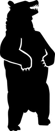Illustration pour Standing Grizzly Bear - image libre de droit