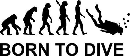 Illustration pour Evolution born to dive - image libre de droit