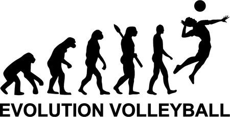 Illustration pour Volleyball Evolution - image libre de droit