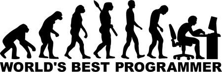 Illustrazione per Programmer Evolution - Immagini Royalty Free