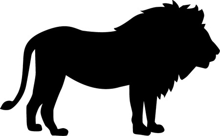 Photo pour Lion silhouette - image libre de droit