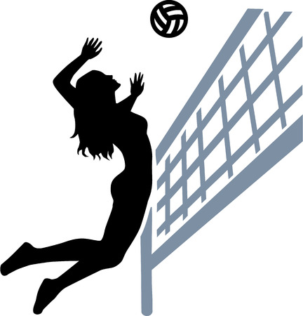 Volleyball Player Woman net
