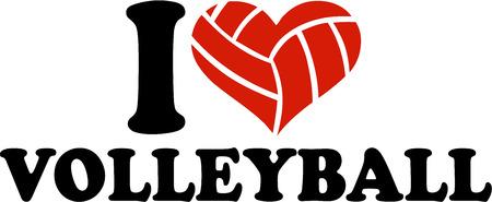 I Heart Volleyball ballheart