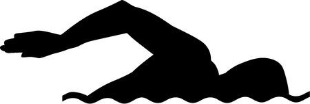 Ilustración de Swimming Silhouette - Imagen libre de derechos