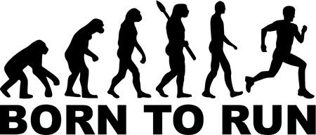 Illustration pour Born to run Evolution - image libre de droit