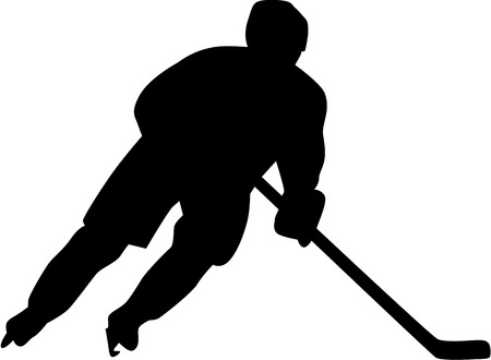 Illustration pour Hockey Player - image libre de droit