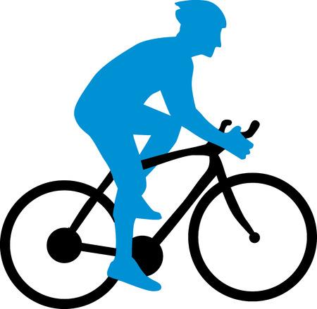 Illustrazione per Cyclist Silhouette - Immagini Royalty Free