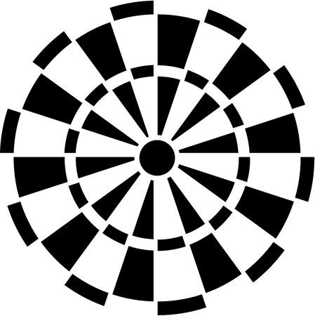 Illustration pour Dartboard - image libre de droit