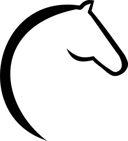 Illustration pour Horse head icon - image libre de droit