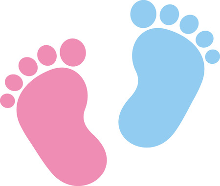 Photo pour Baby footprint pink and blue - image libre de droit