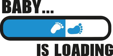 Illustration pour Baby is Loading with download bar - image libre de droit