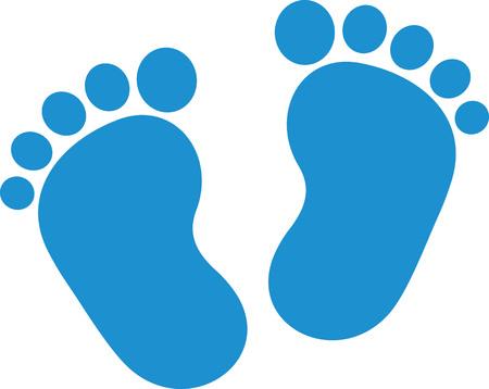 Illustration pour Baby feet boy - image libre de droit