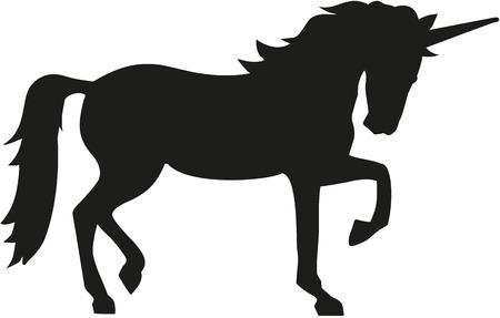 Illustration pour Unicorn silhouette - image libre de droit