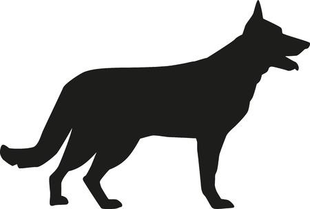 Ilustración de German Shepherd silhouette - Imagen libre de derechos
