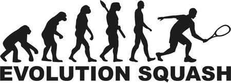 Illustration pour Evolution Squash - image libre de droit