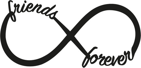 Illustration pour Infinity sign with friends forever - image libre de droit