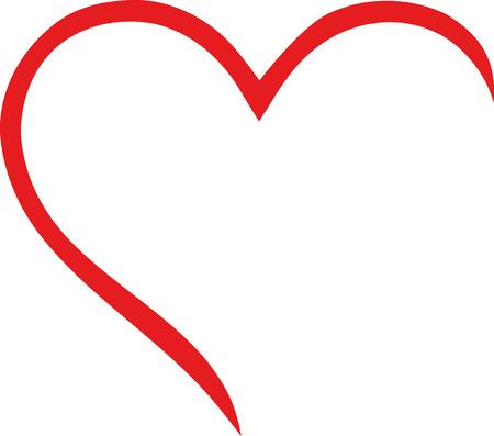 Ilustración de Half heart outline - Imagen libre de derechos