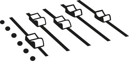 Illustration pour DJ mixing console - image libre de droit