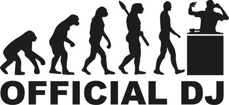 Illustration pour Official DJ evolution - image libre de droit