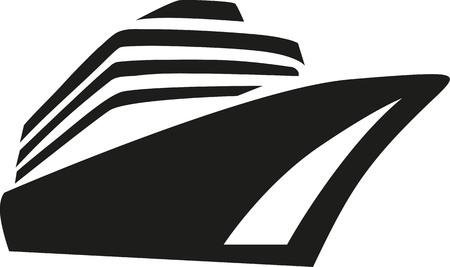 Illustration pour Cruise ship cruise liner - image libre de droit