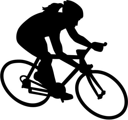 Illustrazione per Female Bike Bicycle Cyclist - Immagini Royalty Free