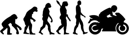 Illustration pour Motorbike evolution - image libre de droit