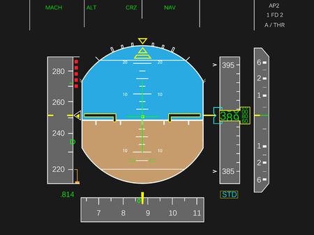 Illustration pour Digital airplane instruments vector  - image libre de droit