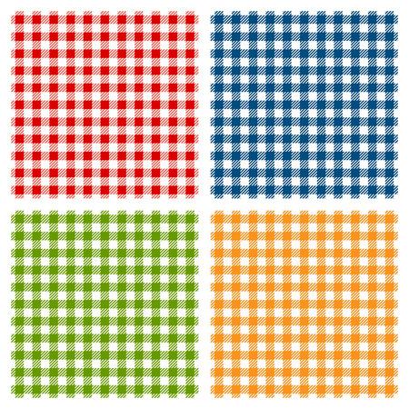 Illustration pour Checkered tablecloth seamless pattern - image libre de droit