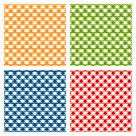 Illustration pour Checkered tablecloth seamless pattern diagonal - image libre de droit