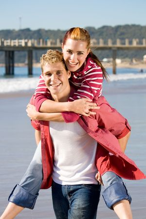 Photo for romantic piggy-back ride - Royalty Free Image