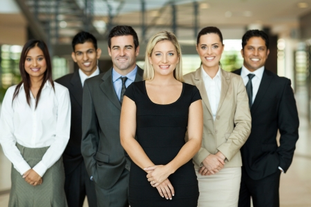 Photo pour portrait of modern business team inside office building - image libre de droit