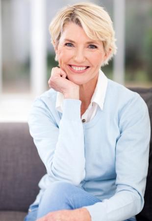 Foto für beautiful middle aged woman sitting at home - Lizenzfreies Bild