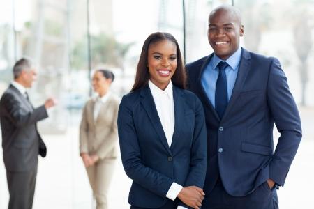 Foto de young african american businesspeople in office - Imagen libre de derechos