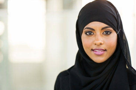 Photo for beautiful muslim businesswoman in modern office - Royalty Free Image