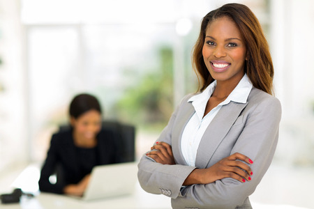 Photo for smart african business woman in office - Royalty Free Image