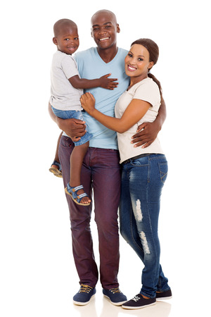 Photo pour beautiful african american family isolated on white background - image libre de droit