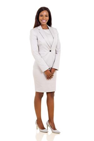 Foto de modern african business woman isolated on white background - Imagen libre de derechos
