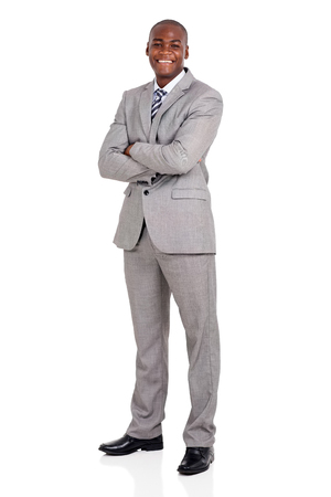 Photo for handsome young african american businessman with arms folded - Royalty Free Image