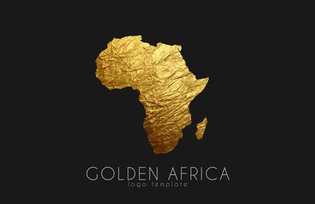 Illustration pour Africa. Golden Africa logo. Creative Africa logo design - image libre de droit