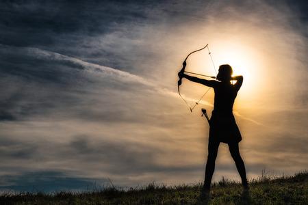 Photo pour Girl with bow - image libre de droit