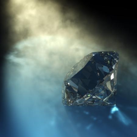 Photo pour 3d rendering of a diamond with visible light and caustics - image libre de droit