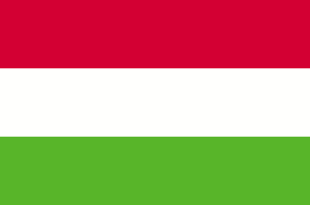 Illustration pour Hungary flag, official colors and proportion correctly. National Flag of Hungary. - image libre de droit