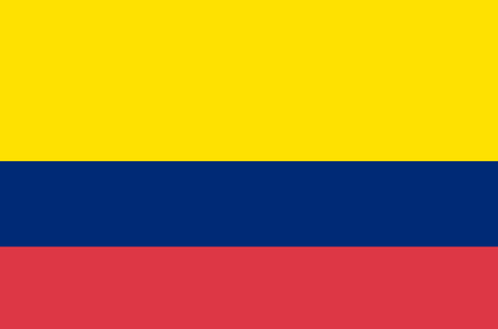 Illustration pour Flag of Colombia. Accurate dimensions, elements proportions and colors. - image libre de droit