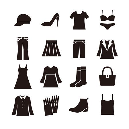 Illustrazione per Ladies fashion icon - Immagini Royalty Free