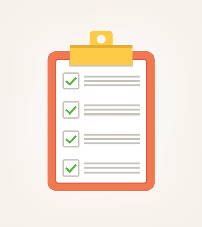 Illustration pour A check list icon. - image libre de droit