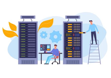 Illustration pour Storage database concept. Vector flat graphic design isolated illustration - image libre de droit