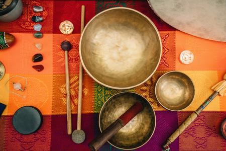 Foto de Tibetan singing bowl - Imagen libre de derechos