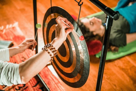 Photo for Gong in sound therapy - Royalty Free Image