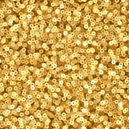 Illustration for Gold luxury shimmer sequins. Disco party vector seamless texture - Royalty Free Image