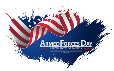 Illustration pour Armed forces day template poster design vector illustration background for armed forces day. Celebration background for Armed Forces Day. - image libre de droit